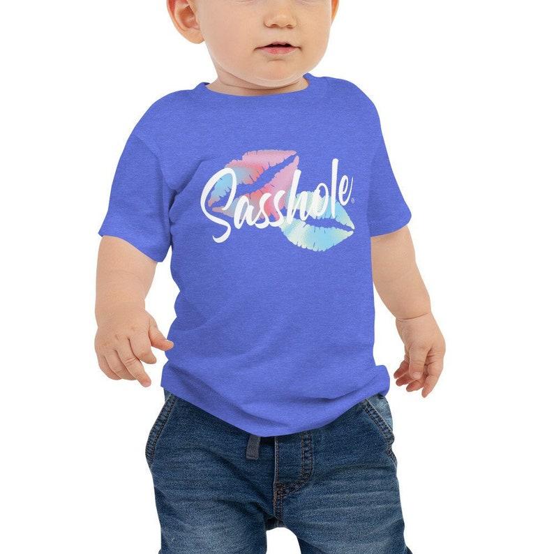 Sasshole® Baby Jersey Tee Baby Tshirt Funny Tee Baby Tee image 0