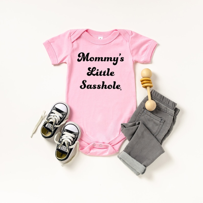 Mommy's Little Sasshole® Baby Bodysuit Black