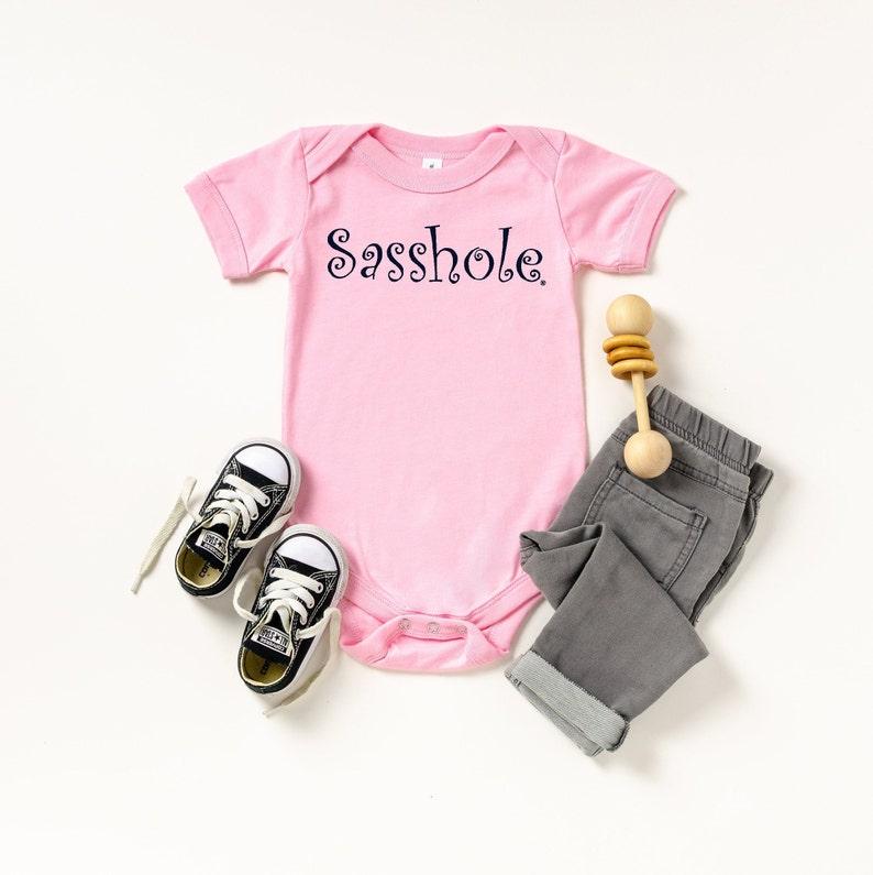 Sasshole® Baby Bodysuit Black
