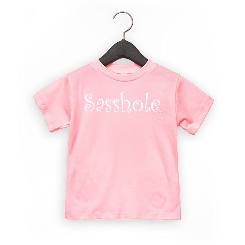 SALE  SASSHOLE® Toddler Short Sleeve Tee White