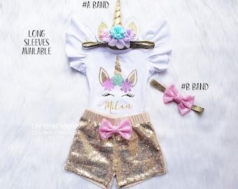 158e34074 Unicorn birthday outfit