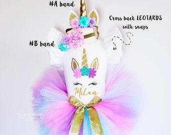 a66fe22e9 Unicorn Birthday Outfit, Unicorn headband, Unicorn rainbow tutu set,  Rainbow unicorn birthday outfit set, Rainbow Unicorn Girls Costume