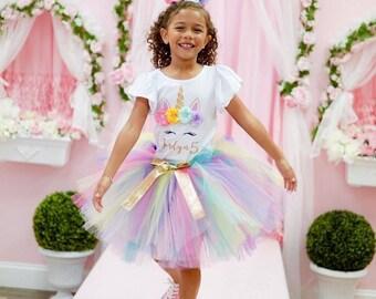 girls birthday dress Unicorn birthday dress Unicorn Birthday oufit Unicorn Birthday