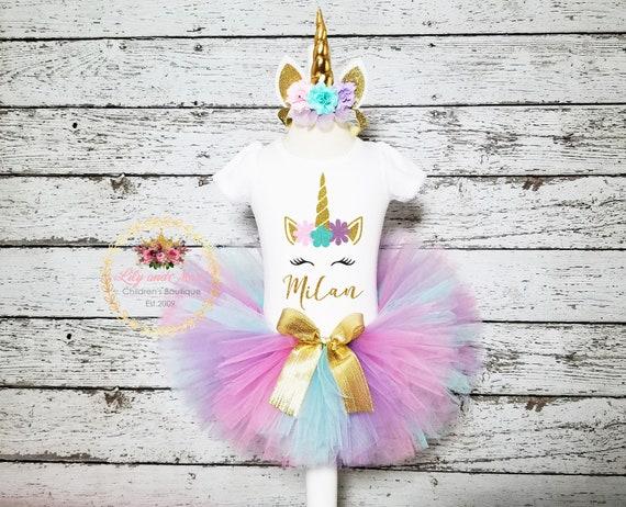 3a6f1c3ef68 Unicorn Birthday Outfit Unicorn headband Unicorn rainbow
