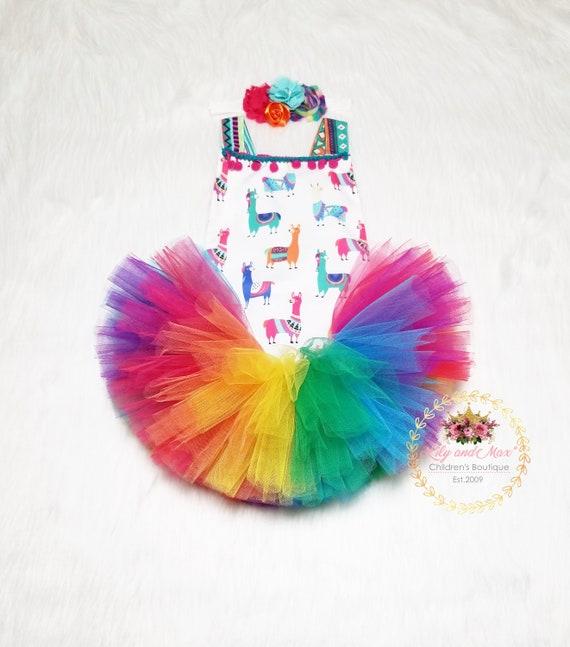 1st Birthday Outfit LLAMA Tutu Set Llama Romper