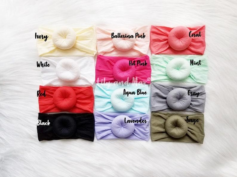 baby girl shower gift baby round knot headbands Round Knot Head Wrap Baby Turban round knot donut headbands nylon stretchy headbands