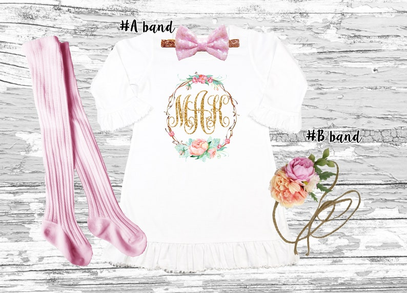 Personalized Boho floral girls dress Floral boho monogrammed girls dress Outfit up to 6 YEARS old Boho chic floral birthday girl outfit