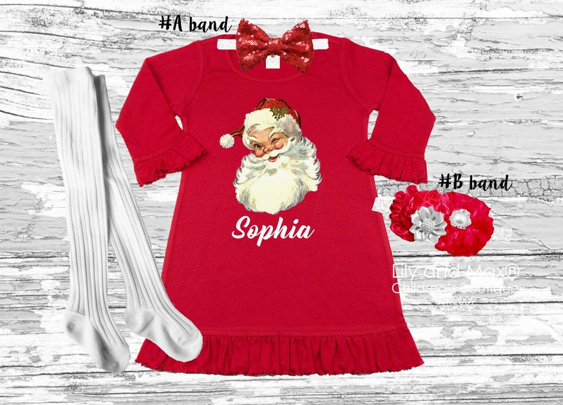 Personalized Christmas girls dress My 1st Christmas outfit Christmas girls dress Outfit red dress Christmas outfit- up to 6 YEARS old