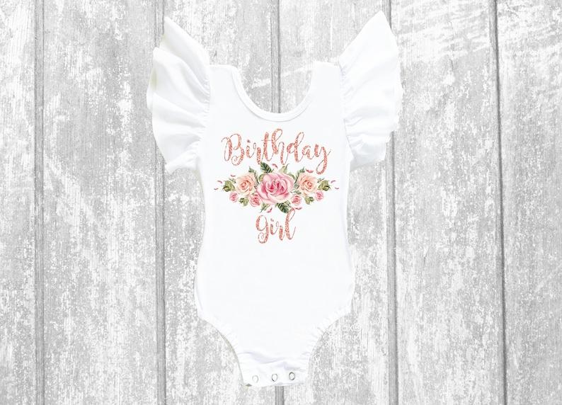 1st birthday girls outfit girl birthday birthday shirt 1st Birthday Girl Leotard birthday girl girl floral bodysuit birthday leotard