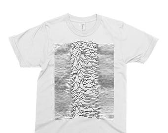 695a3f8c Joy Division B - Unknown Pleasures T-shirt, Tee, Music, Rock, Retro, Ian  Curtis, Punk, , Cute Gift. PixieApparelShop. 5 out of ...