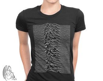 6e40cb4e Women's Joy Division - Unknown Pleasures T-shirt, Tee, Music, Rock, Retro,  Ian Curtis, Punk, , Cute Gift. PixieApparelShop. 5 out of ...
