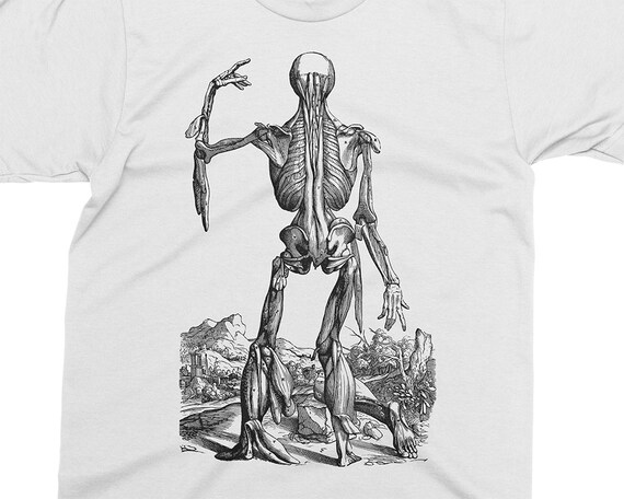 Gift for Medical student 16th century Gift for Doctor Andreas Vesalius T-shirt Skinless Man Muscles 13 Anathomy shirt Great Gift