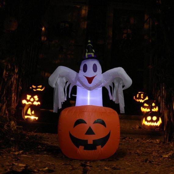 DIY Halloween Inflatable Blow in Pumpkin Up Scary Halloween Outdoor Yard Decor