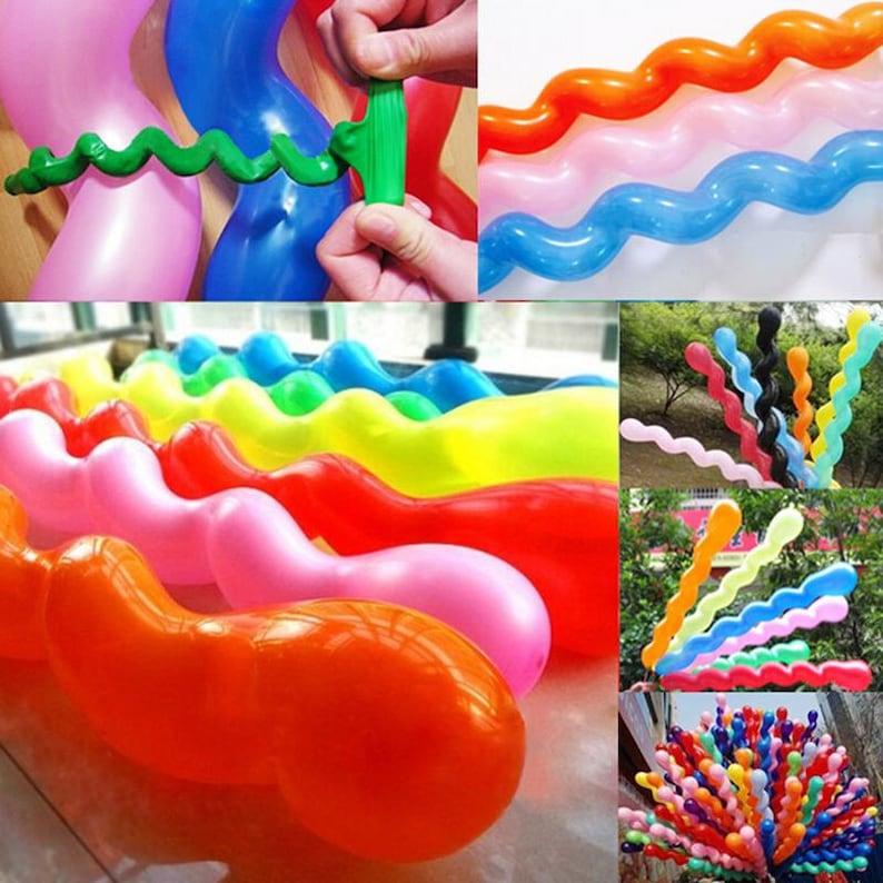50 Twist Spiral Long Latex Balloons Wedding Birthday Party Decoration Kids Like