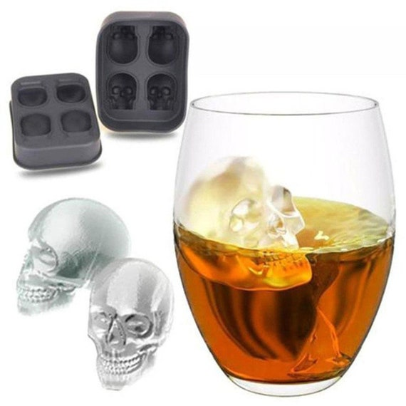 4-Cavity Big Silicone Drink Ice Cube Pudding Jelly Soap Mold Mould Tray Tool