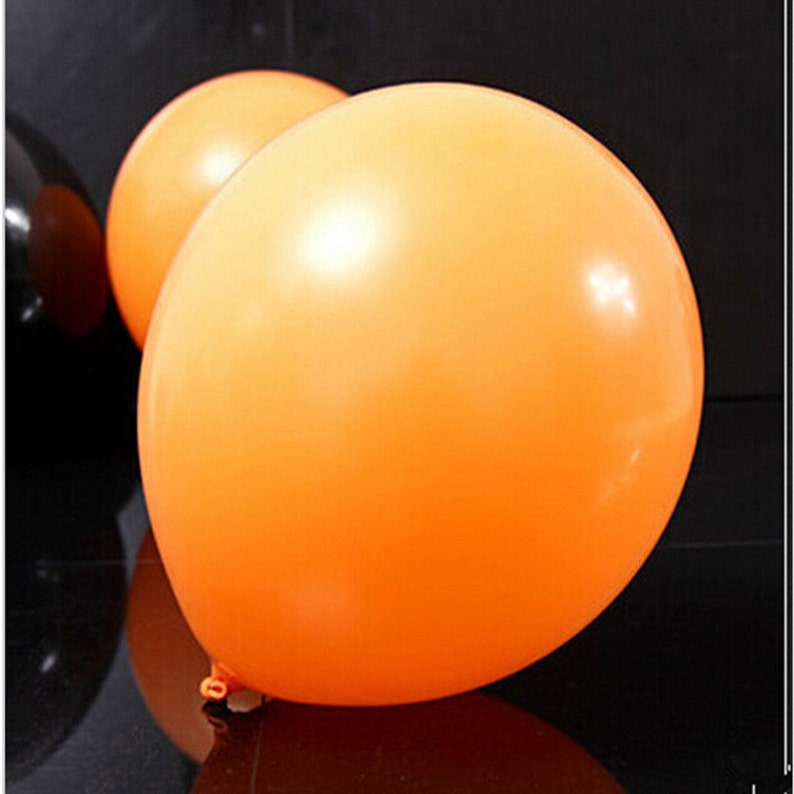 thick decorative balloons orange and black baloons 50pieces Halloween balloon combo 10 inches 2.3 grams of inferior smooth