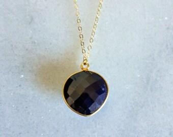 Long Sapphire Necklace