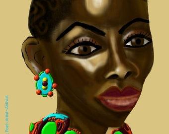 Nubian Queen; Art Poster