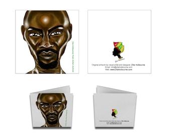 Greetings Card; Black Man