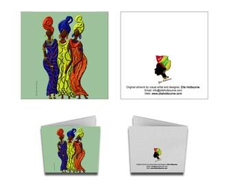 Greetings Card; African women
