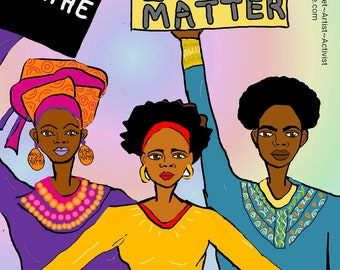 Selection of powerful digital art prints, with 10%  of sales going to BARAC Humanitarian Aid #blacklivesmatter #equality #PPE