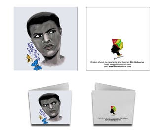 Muhammad Ali greetings card