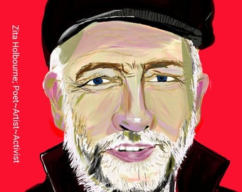 I Stand With Jeremy Corbyn art  poster  A4 or A3 size