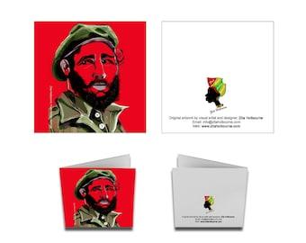 Greetings Card; Fidel Castro