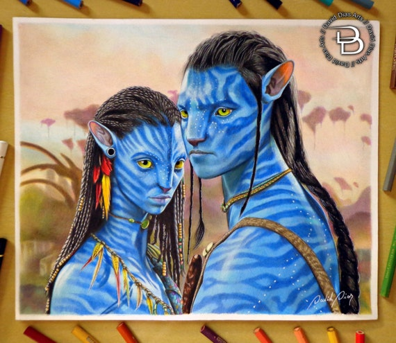 Avatar Jake Sully Original Oil Painting