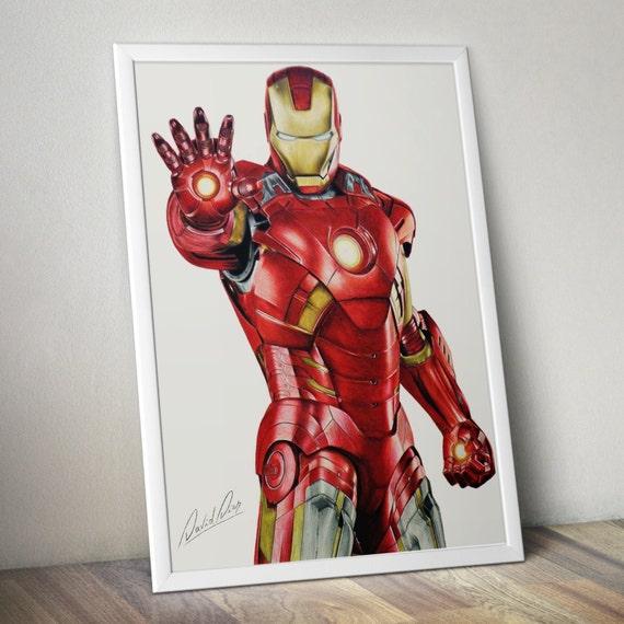 Print Iron Man A4 Size Etsy