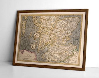 Old Map of Medieval Scotland  - Giclée Reproduction of Vintage Map | Scottish Gift, Genealogy Present, Scottish Art Print | Map of Scotland