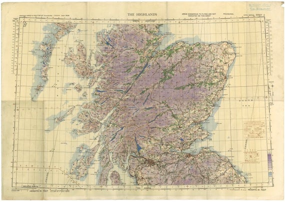 Findhorn Scotland Map.Historical Old Map Of Scottish Highlands Old Os Map Of Etsy