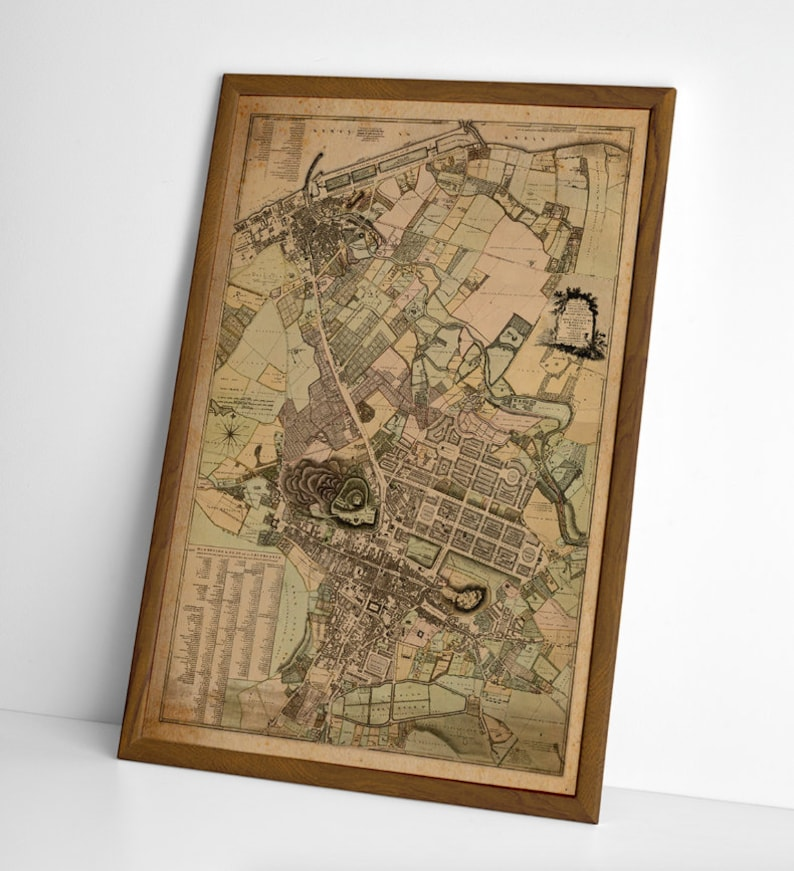 Leith Scotland Map.Old Map Of Edinburgh Leith Walk Royal Mile Old Town New Town Etsy