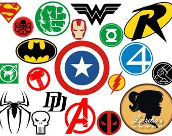 Super Hero Wonder Woman SVG Clipart Super Hero Pack SVG PNG