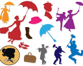 Mary Poppins, Mary Poppins eps, Mary Poppins SVG, clipart,  svg, cameo files, svg files for cricut, dxf, vector