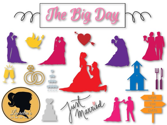 Wedding Quotes Svg Just Married Set SVG The Big Day Etsy Magnificent Just Married Quotes