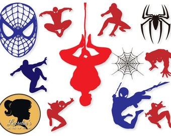 Spiderman Svg, INSTANT DOWNLOAD Spiderman, Eps, Dxf, and Jpeg Format for Cricut and Silhouette, Spiderman