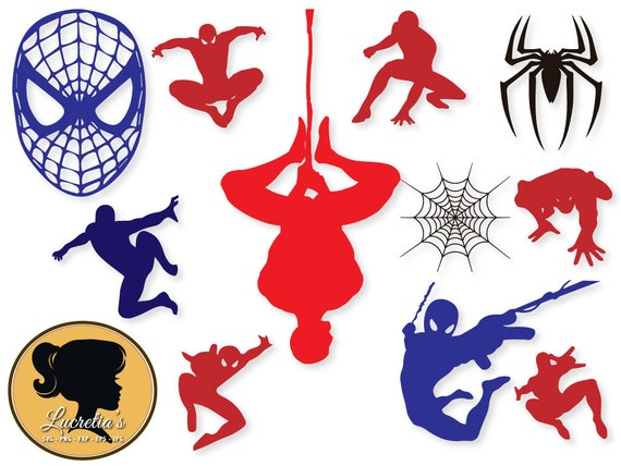 spiderman svg instant download spiderman eps dxf and jpeg etsy