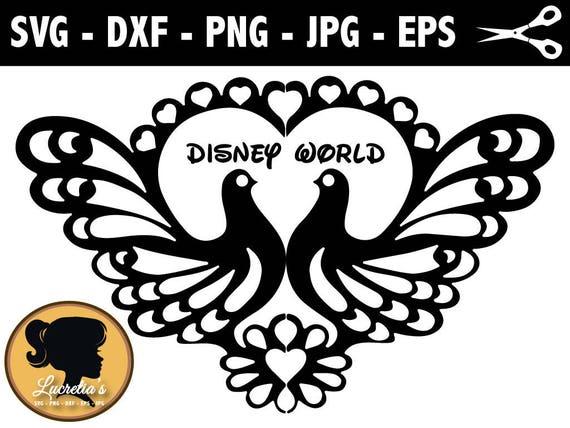 Disney World Love Svg Peacock Vector Art Clipart Svg Files Etsy