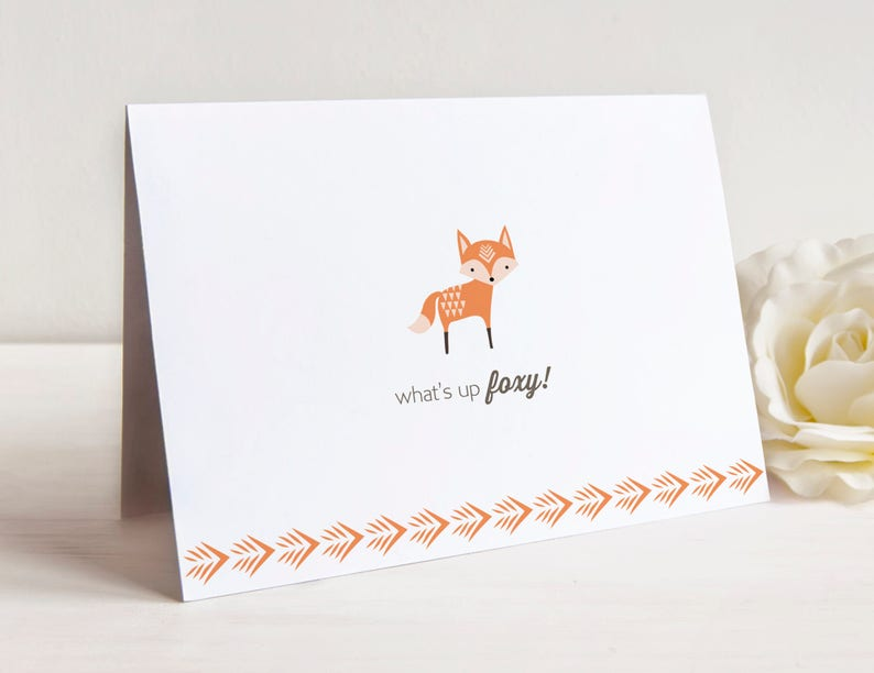 Woodland Animal Notecard Set Set of 10 Notecards with Envelopes Just Saying Hello Notes
