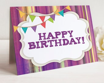Happy Birthday Note Cards, Set of 10 Cards with Envelopes,