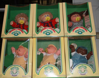 Coleco Cabbage Patch Dolls Still in Original Boxes - BOX 4 Pacifiers and Preemies