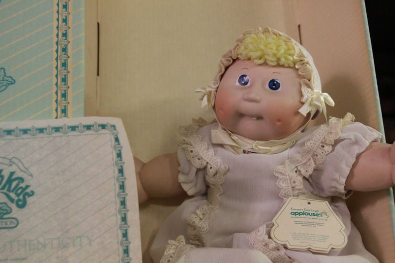 Cabbage Patch Porcelain with RARE 2 DIMPLES and TOOTH - Box 11