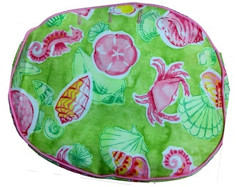 My Oversized BERMUDA BAG COVER in Beach PartyGoer and Palm Beach Sarong made & ready to ship!