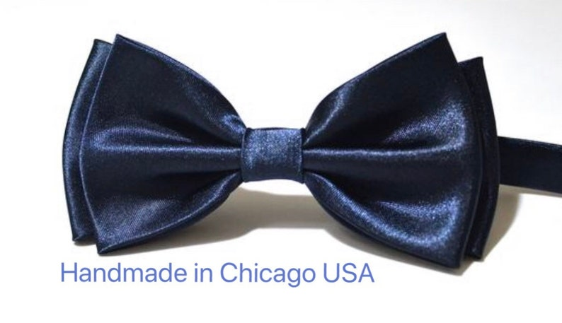 09e0e294f8a5 Bow Tie Navy Blue Bow Tie Wedding Bow Tie Bow Tie for Men Gift | Etsy