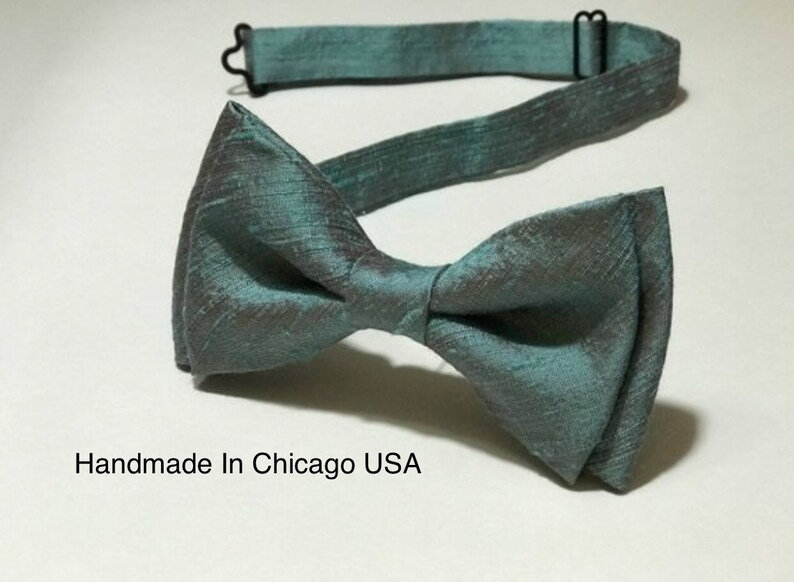54d6aa1efe325 Mens Bow Ties Children Mint Bow Tie Wedding Bow Tie Bow Tie | Etsy