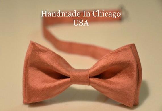a0e2440f1347 Mens Bow Tie Peachy Bluh Bow Tie Wedding Bow Tie Silk Bow Tie   Etsy