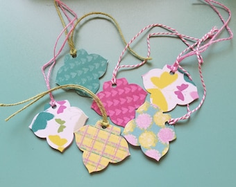 Colorful Unique Gift Tags Set of 6