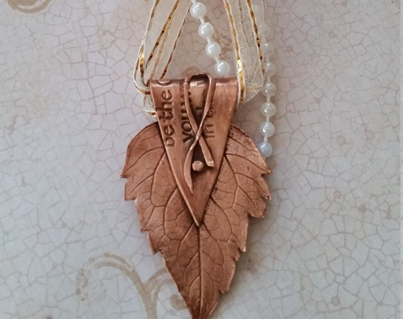 Copper Leaf Holiday Ornament (3#)