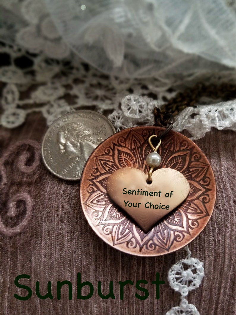 Inspirational Necklace With Your Message our Name on a image 0